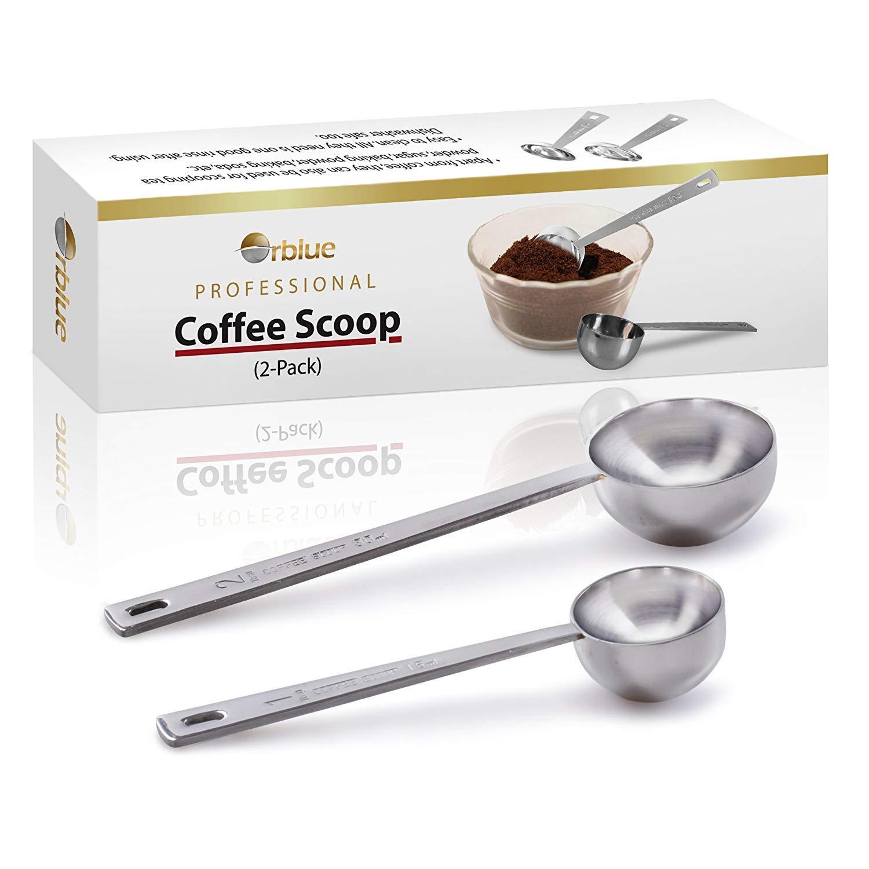 orblue café cuchara, acero inoxidable, cucharas de mango largo, pack de 2 SYNCHKG108261