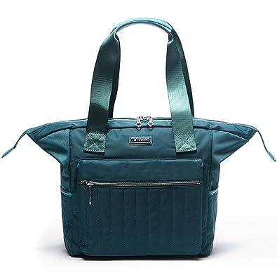 Amazon.com  Fouvor Women s Tote Bag Nylon Waterproof Travel Shoulder ... ba7d374bfd600