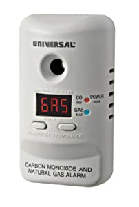 Universal Security Instruments M Series Plug-In Carbon Monoxide and Natural Gas Alarm with 9 -Volt Battery Backup, Model MCND401B