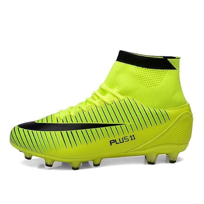 e8d1e41c3f037 Chaussures de Football Compétition Mixte Enfant High Top AG Spike Crampons  Chaussures de Foot pour Enfant EU35-42  Amazon.fr  Chaussures et Sacs
