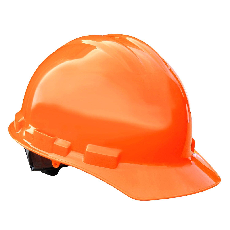 Radians GHP6-ORANGE HI-VIZ Granite Cap Style Protective High Visibility Hard Hat with 6 Point Pinlock Suspension
