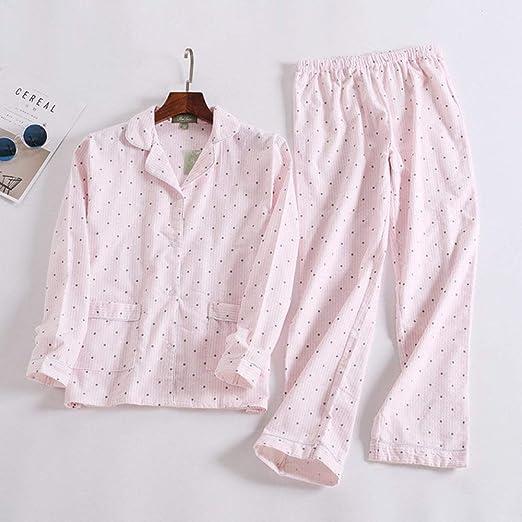 HIUGHJ Conjuntos de Pijamas Casuales de Navidad para Mujeres de algodón Cepillado de Manga Larga de Dibujos Animados Frescos Sueltos Mujer Pijamas Tallas Grandes Pijamas Mujeres, OLTZ, 2, S: Amazon.es: Hogar
