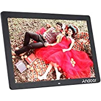 Andoer 17 LED Digital Photo Picture Frame High Resolution 1440900 Scroll Caption 1080P Advertising Machine MP3 MP4 with Remote Control Christmas Gift Present