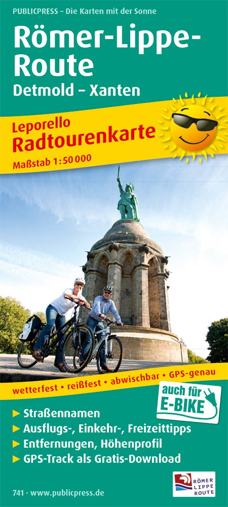 Römer-Lippe-Route, Detmold - Xanten: Leporello Radtourenkarte mit Ausflugszielen, Einkehr- & Freizeittipps, wetterfest, reißfest, GPS-genau, 1:50000 (Leporello Radtourenkarte / LEP-RK)