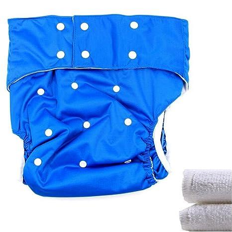 lukloy – adolescentes/adultos pañales pañal con 2 inserciones para incontinencia atención – doble apertura