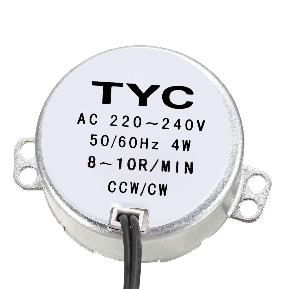 sourcing map El/éctrico Sincr/ónico Motor AC 220-240V CCW//CW 30-36 rpm