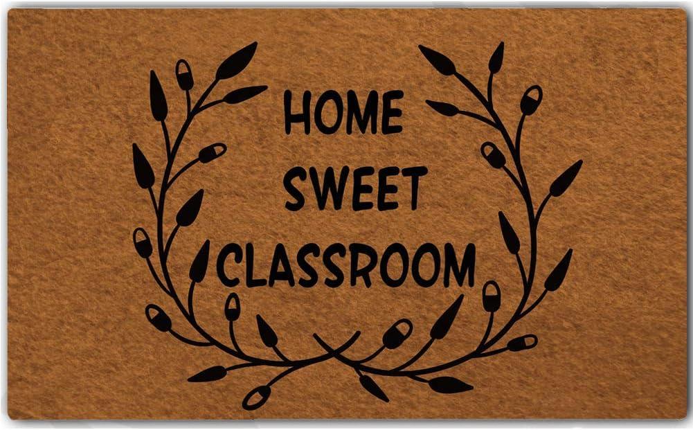 Eureya Funny Door Mat Non Slip Rubber Back Entry Way Doormat For Front Patio Indoor 30 X18 Home Sweet Classroom Amazon Co Uk Kitchen Home