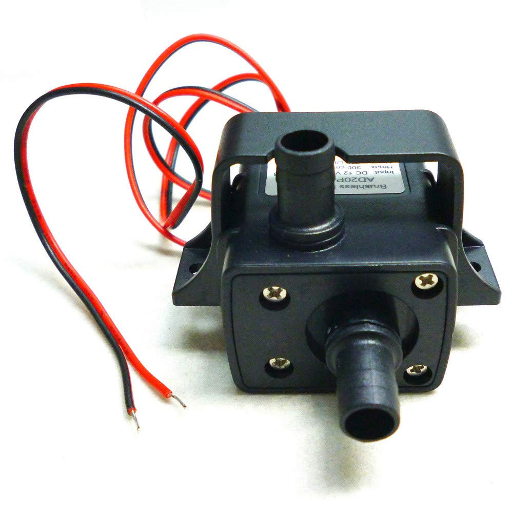 Mini Brushless Silent Water Pump, Oldeagle DC12V 3m 240L/H Ultra Quiet Brushless Motor Water Pump Solar for Submersible Pool