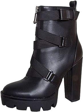 Vimisaoi Women's High Chunky Heels Lace