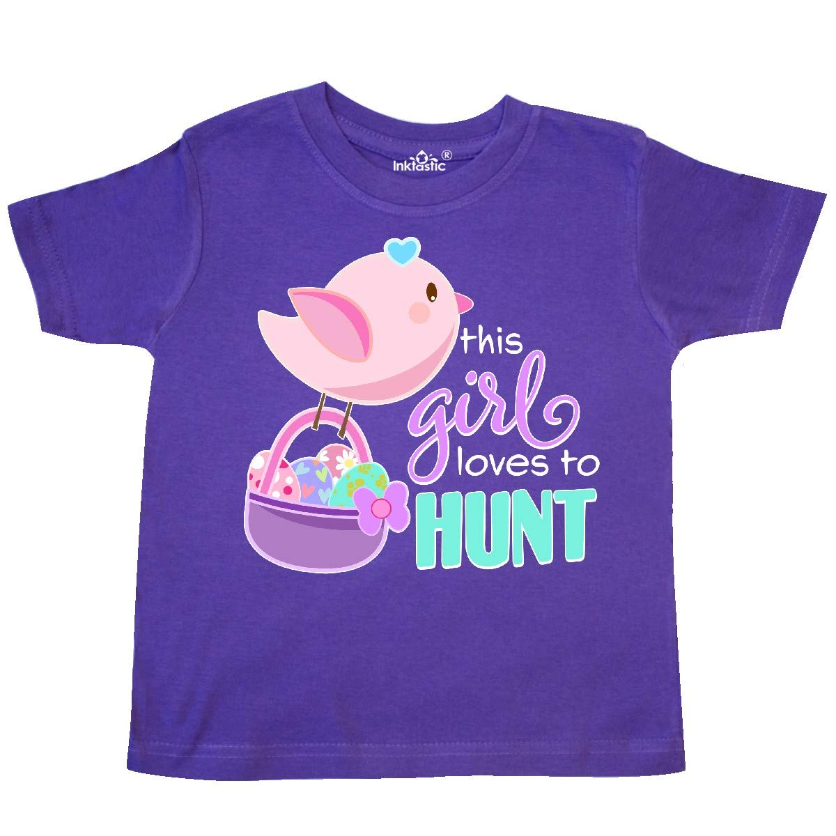 inktastic This Girl Loves to Hunt Easter Eggs Toddler T-Shirt