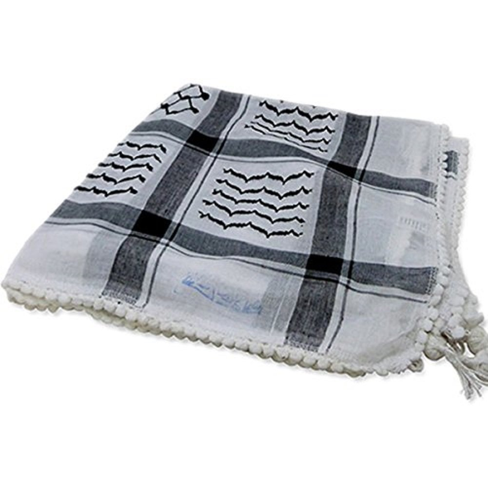 Original Arab Keffiyeh Military Shemagh 100% Cotton Neck Scarf Wrap Made In Palestine For Men And Women