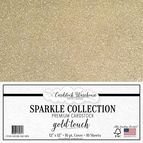 (MirriSparkle Gold Touch Glitter Cardstock Paper from Cardstock Warehouse 12