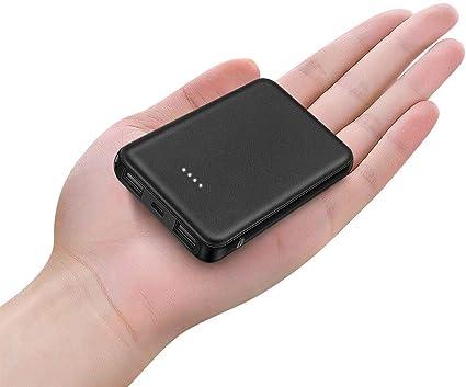 Caricabatteria Portatile per Smartphone e Tablet Caricatore Portatile 5000 mAh,Batteria Compatta da 5000 mAh con Potenza 3.4A BOTKK Mini PowerBank 5000mAh 2 Porte USB