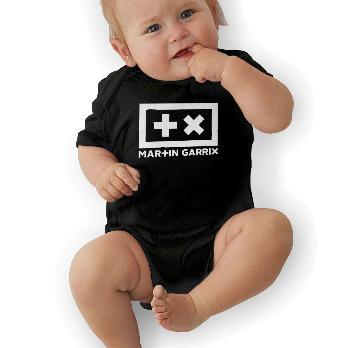 Kids Martin Garrix Cute Soft Music Band Jersey Bodysuit,Black,6M