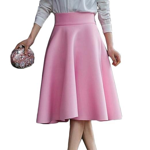 AOMEI Women s High Waist Knee Length Skirt at Amazon Women s ... 7b4f939306