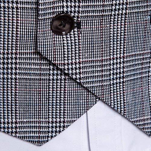 Casual Vestmon Fashion Da Vest Tuxedo Uomo Petto Gilet Business Hellgrau Giacca Saoye Giovane Jacket Doppio Modern wT6AIw