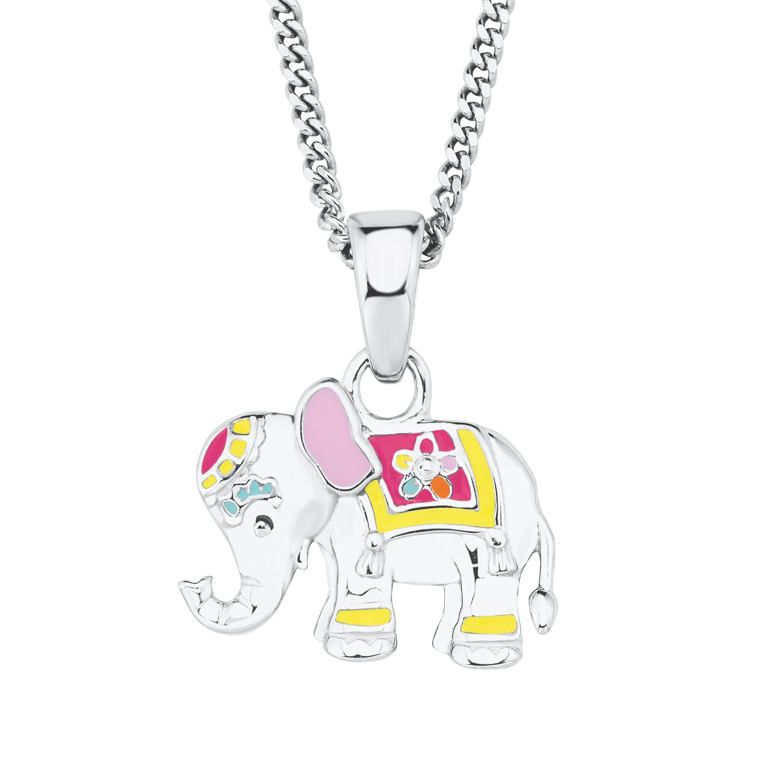 Prinzessin Lillifee Kinder-Kette Mädchen längenverstellbar mit Anhänger Elefant 925 Silber rhodiniert 2019681
