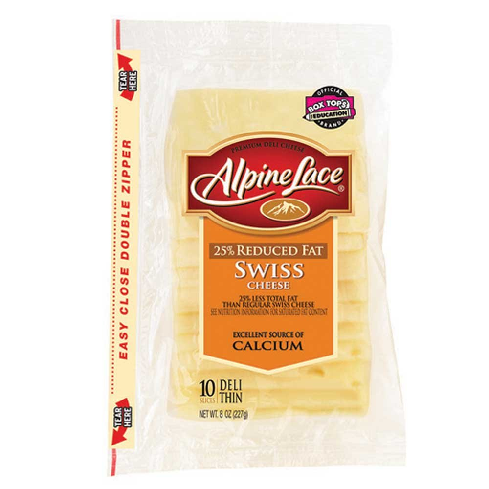 Land O Lakes Alpine Lace Swiss Deli Cheese Slice, 8 Ounce -- 12 per case. by Land O Lakes (Image #1)