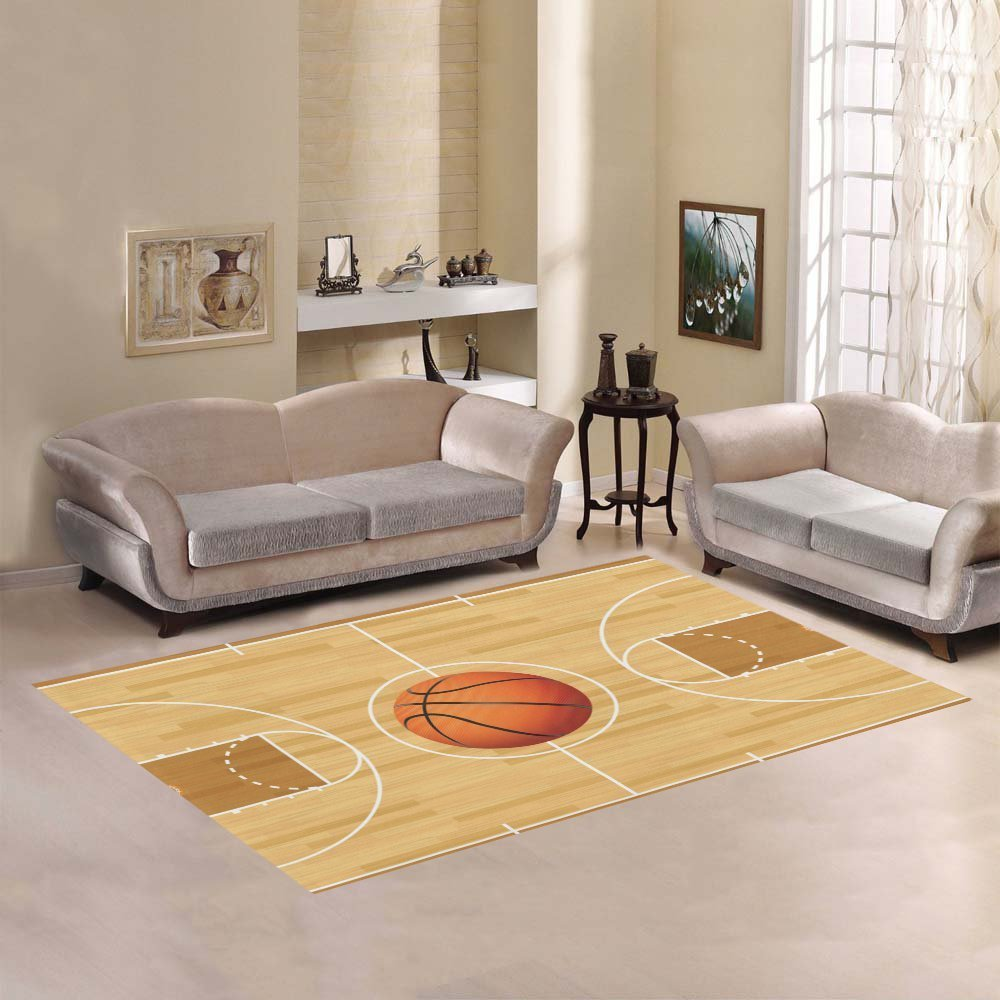 Amazon.com: Custom cancha de baloncesto área alfombra 7 ...