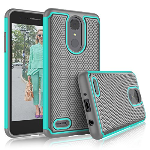 Virgin Mobile Phone Cases - LG Aristo 2 Case, LG Tribute Dynasty/Empire/LG Aristo 3/K8 2018/Fortune 2/Zone 4 Cute Cases, Tekcoo [Tmajor] Shock Absorbing [Turquoise] Rubber Silicone Plastic Scratch Resistant Sturdy Cover
