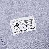 LRG Men's Script Effect Logo Hooded Sweatshirt, Ash Heather, Medium