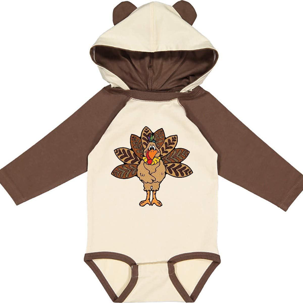 inktastic Thanksgiving Turkey Long Sleeve Creeper