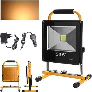 Hengda LED 20W Kaltweiß Flutlicht Fluter Lampe Außen Strahler Baustrahler Akku-Strahler