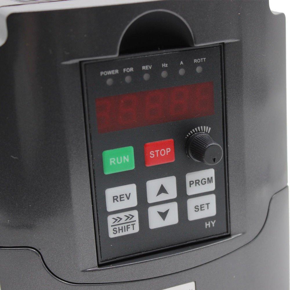 RANZIX Frequenzumrichter 2.2KW Variable Frequency Driver VFD 220V 3HP Professional Frequenzwandler Inverter Antrieb f/ür Spindelmotor