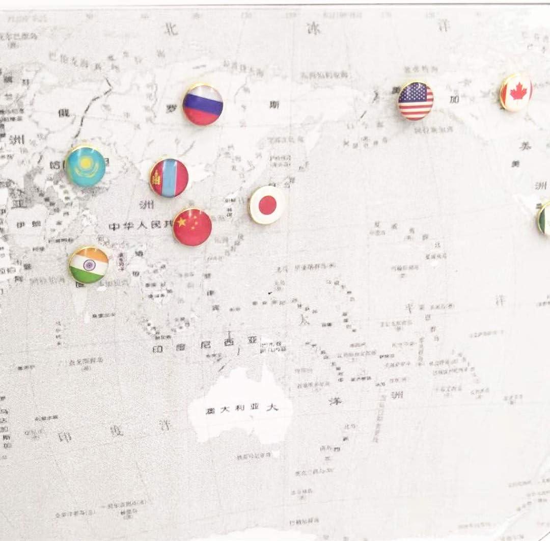 goupille de Dessin de Drapeau National MoonyLI 100pcs Punaise en m/étal Ronde punaises pour Mur Photo,projets de Bricolage pour Bureau /à Domicile avec Outil de Bricolage. 8mm