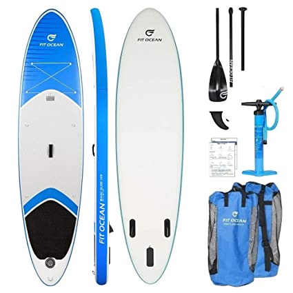 -Tabla de surf de remo (SUP) hinchable Magic Glide naranja (10,8) de Fit Ocean, ...