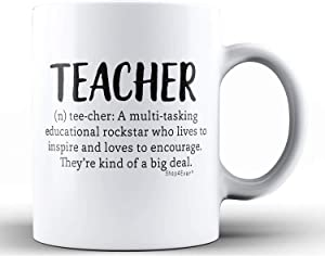 Shop4Ever Teacher Definition Ceramic Coffee Mug