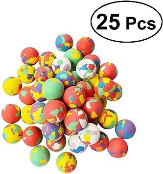 Yeahibaby Bolas animosas de goma de 25PCS EVA que salta el relleno ...
