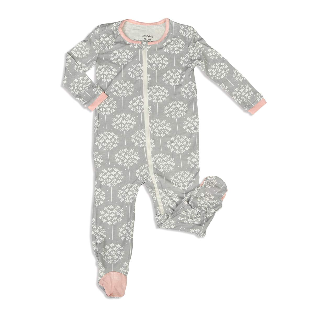 Silkberry Baby Printed Bamboo Footie with Easy Dressing Zipper (Girl & Unisex)