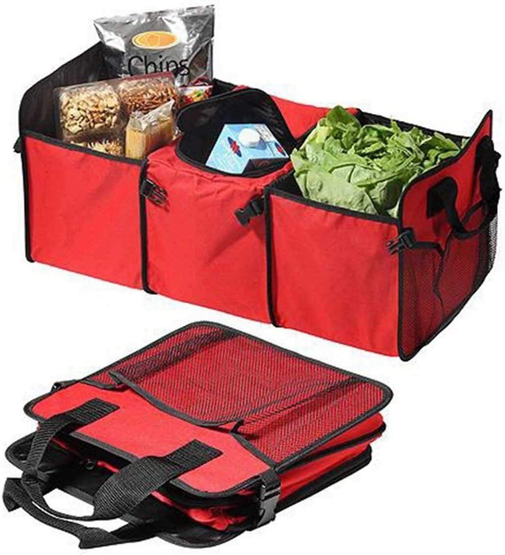 JIEIIFAFH Supporto Pieghevole Bagagliaio Boot dellorganizzatore La Scatola di immagazzinaggio ordinata Travel Bag Cargo Box immagazzinaggio Stivaggio Riordino di Accessori Auto Color : Blue