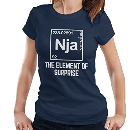 Element of Surprise The Ninja Womens T-Shirt: Amazon.es ...