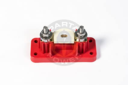 Spartan Power 400 Amp ANL Fuse /& Holder Kit with 12 Inch 4//0 AWG Cable Made...