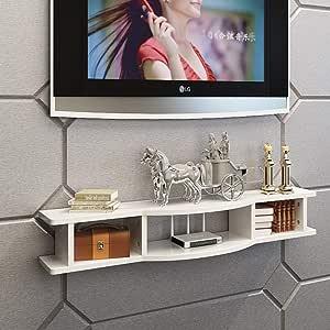 XUQIANG Sencillo Mueble de Entretenimiento for TV Soporte de TV Soporte for televisor decodificador de Escritorio Consola de TV Armario de Pared Flotante casillero Plataforma de Montaje en Pared: Amazon.es: Hogar