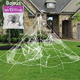 Toys : Pawliss Giant Spider Web with Super Stretch Cobweb Set, Halloween Decor Decorations Outdoor Yard, White, 16 Feet