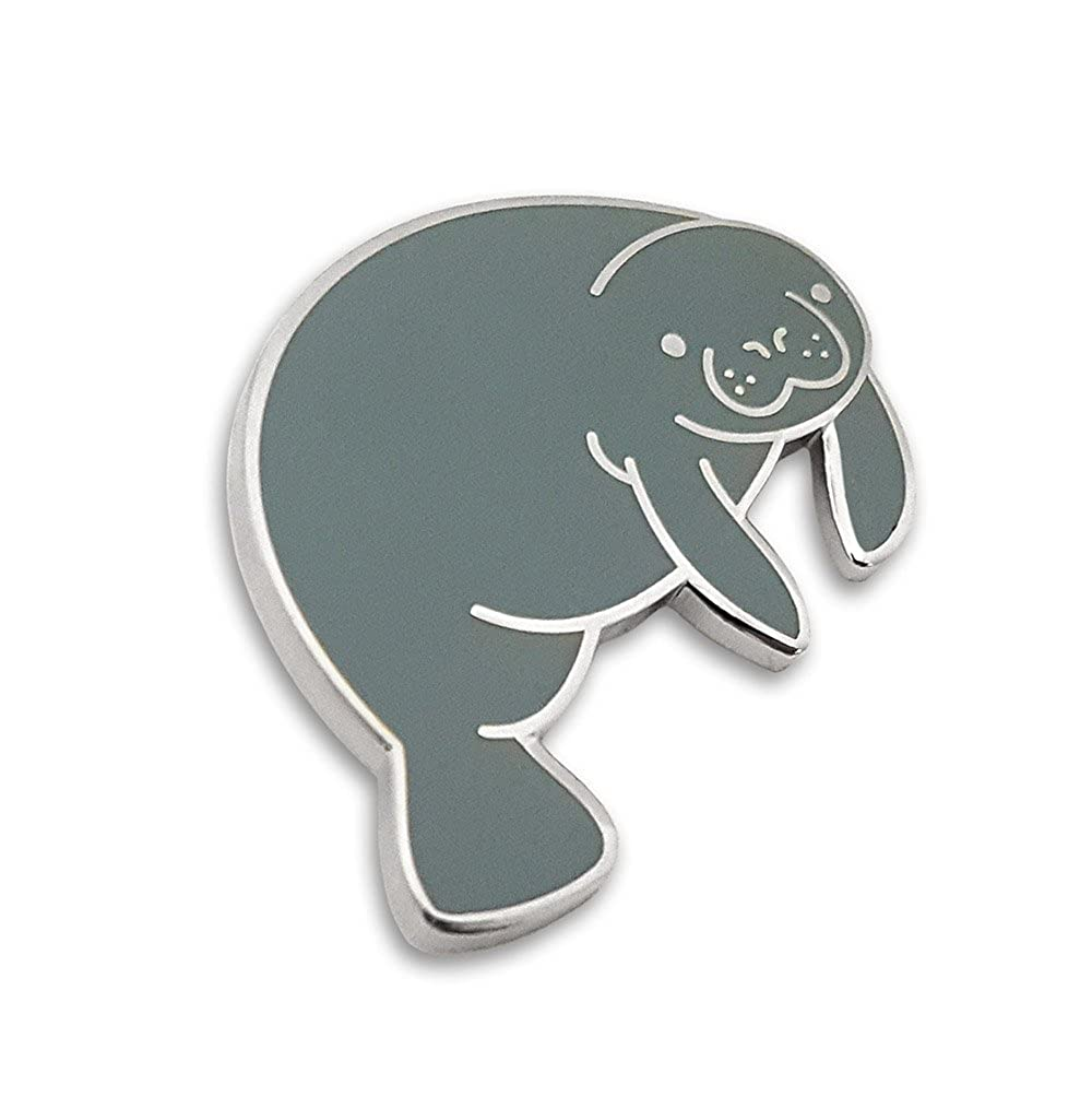 Amazon.com: pinsanity Cute Manatí Enamel Lapel Pin: Jewelry