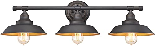 Westinghouse Lighting 6344900 Iron Hill Three-Light Indoor Wall Fixture, 3, Oil Rubbed Bronze