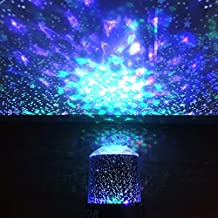 Night Light Projector Lamp, DIGOO DG-SNL Colorful Cosmos&Star 2-in-1 Pattern Party Light with 360 Degree Rotation, 4 Led Bead 4 Lighting Color Change for Woman/Kids/Baby/Children Party,Bedroom