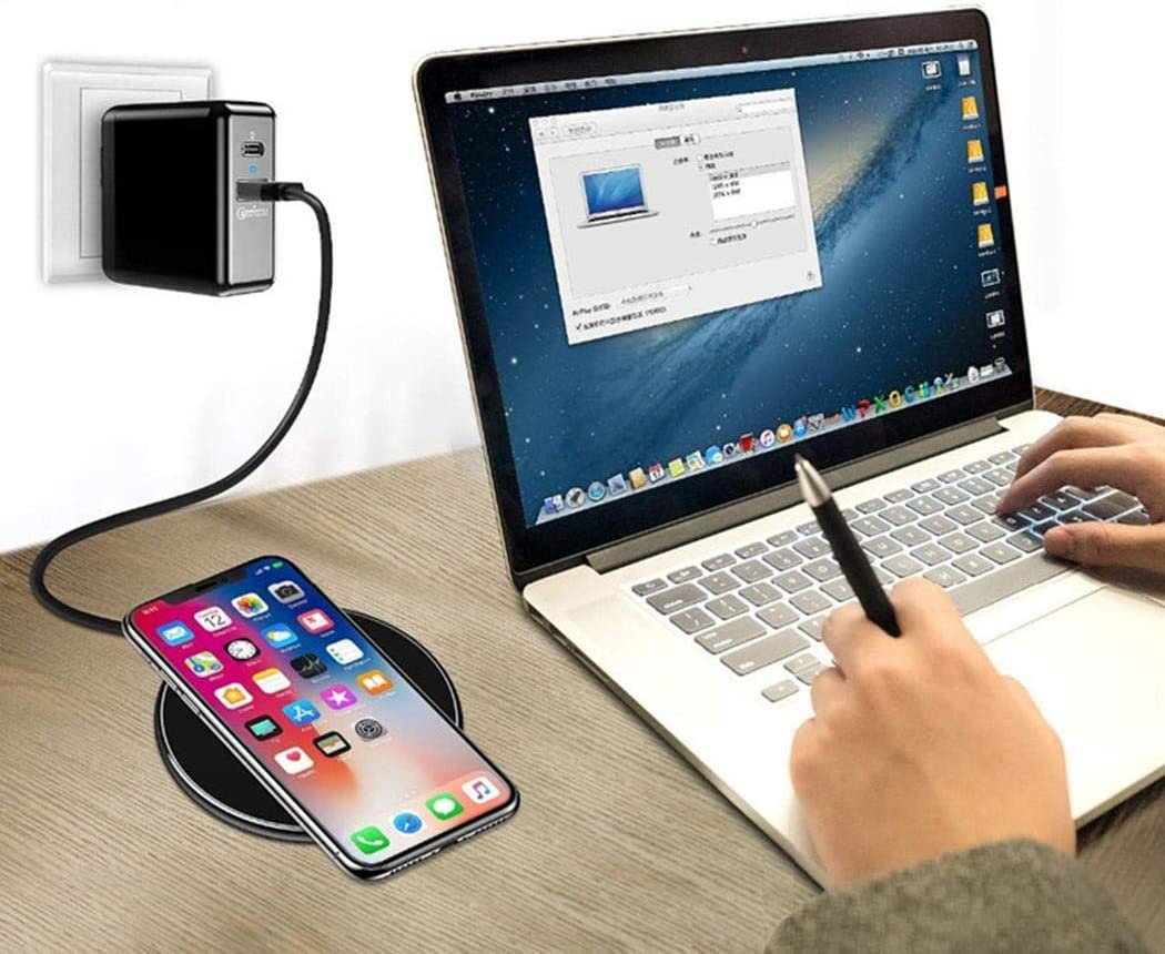 gonikm 10W Smart QI Wireless Charger Metal Desktop Phone Fast Charge Charging Stations