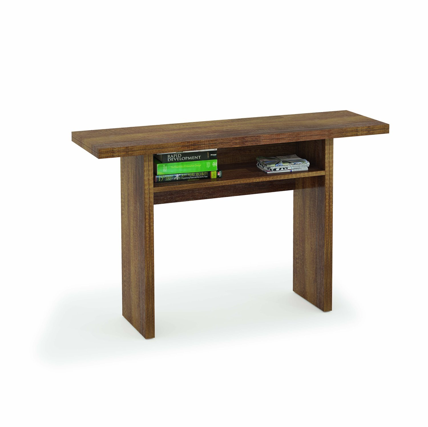BRAVICH Oak Effect Modern 2 In 1 Extendable Dining Table 100% Made In Italy Console Extending Tables Multi-Function Kitchen (Oak Effect) F01020102003