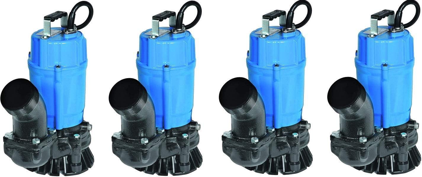 Tsurumi HS3.75S; semi-Vortex Submersible Trash Pump w//Agitator 3 Discharge 4 1hp 115V