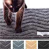 My Cat Mat – Cat Litter Mat Traps and Controls Kitty Litter Scatter - Large XL Size for Tracking and Trapping Scat from Litter Box - Best Easy Clean Catching and Trapper Rug - Soft on Paws - Grey