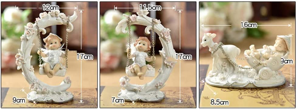Columpio Infantil Angel Doll Decoración Mobiliario de habitación para niños Cute Baby (Color: C) C