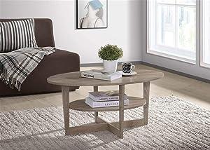 Progressive Furniture Chicopee Small Oval Cocktail Table, Tan