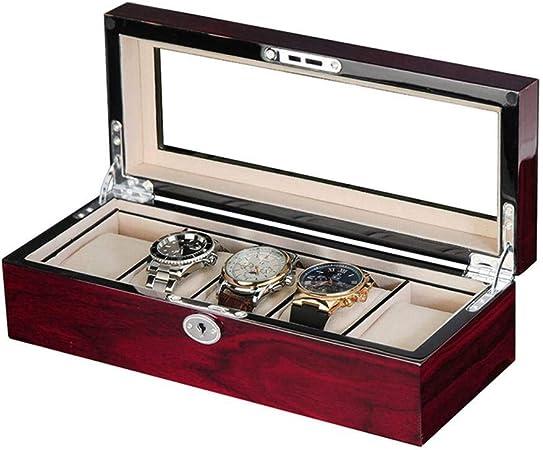 GOVD Caja Guardar Relojes Madera Hombre Estuche de Relojes Organizador de Almacenamiento A: Amazon.es: Hogar