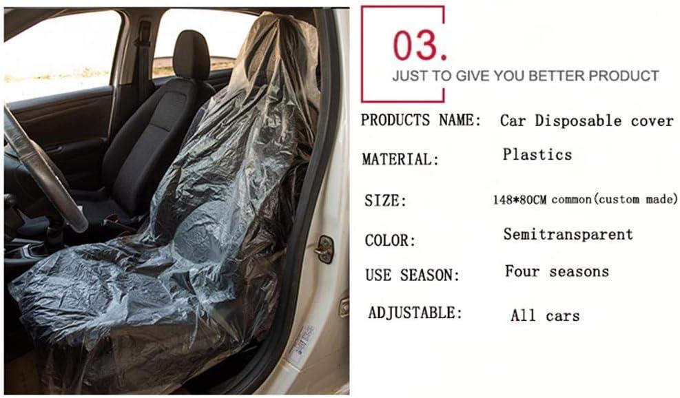 Housse de volant de si/ège de voiture jetable avec housse de frein /à main,housses transparentes d/éfinies fournitures pour la plupart des si/èges de voiture Protection des freins /à main des volants 20Set