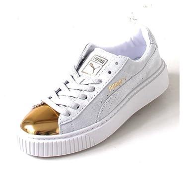 Gold White Goldstar Puma Whitepuma Suede Platform gI6ybfY7v
